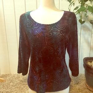 Coldwater Creek burn out top with rich colors